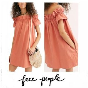 FREE PEOPLE Sophie Off The Shoulder Dress Sz M